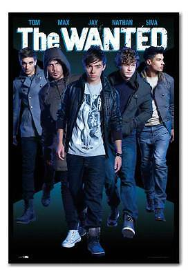The Wanted Large Maxi Wall Poster Ready To Hang Frame