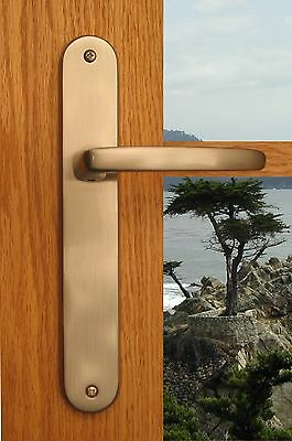 Privacy Door Lever Handles Hardware Monterey Privacy Right Hand Distressed Brass