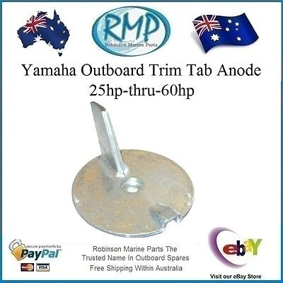 A Brand New Yamaha Outboard Trim Tab Anode 25hp-thru-60hp # 67C-45371-00
