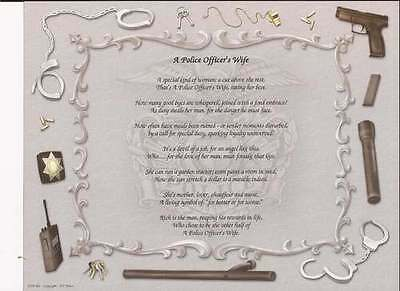 Personalized Police Officer's Wife Poem Creative Gift Idea Add Spouses Name