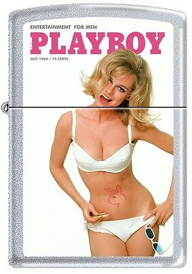 Zippo Playboy July 1964 Cover Satin Chrome Windproof Lighter NEW RARE