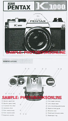 Asahi Pentax K1000 Instruction Manual, 1976-1996