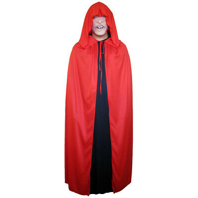 Red Cloak with Large Hood ~ HALLOWEEN VAMPIRE MEDIEVAL RENAISSANCE COSTUME CAPE