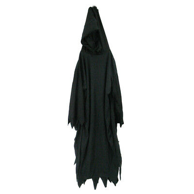 "56"" Black Hooded Robe ~ HALLOWEEN HORROR SCREAM GRIM REAPER COSTUME ACCESSORY"