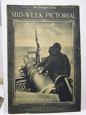 Sept 27,1917 NY TIMES Mid-Week Pictorial Magazine-Spain Revolution/Western/WW1