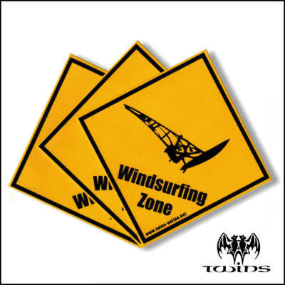 Set 3 adesivi Windsurfing Zone Windsurf Wind Surf adesivo 10cmx10cm tavola