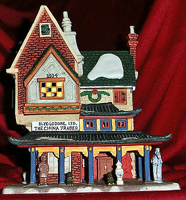 "Department 56...dickens Village...retired...w/light....""the China Trader""...new"