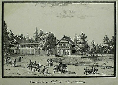 KATHARINENHOF (SANKT PETERSBURG) - Russisches Haus - Pluchart - Lithografie 1824