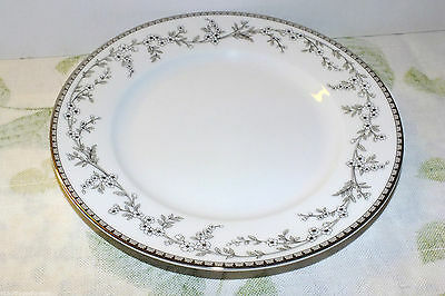 GORHAM FLOWERING MEADOW RIMMED SALAD PLATES LOT OF 3  EXC platinum
