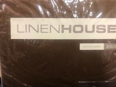 Linen House Chocolate Single Bed Pleated Valance Bnip Cotton Sateen Brown