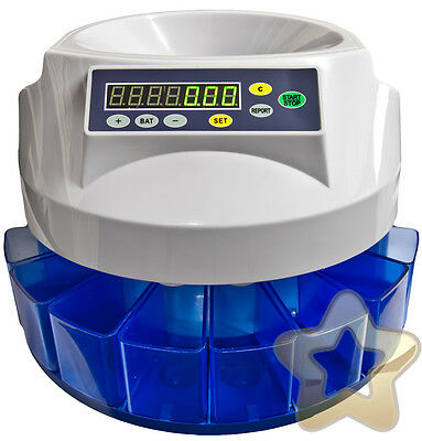 EURO Coin Cash Money Counter Mains powered Counting Machine Automatic FAST