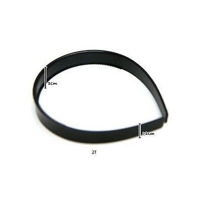 "20mm (3/4"") black plastic headbands with teeth hair accessories wholesale lots"