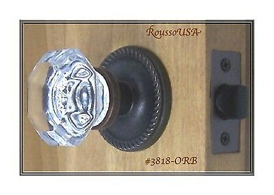Premium Crystal/Oil Rubbed Bronze Old Town Passage Set-Custom made for Any Door