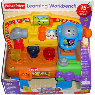 Fisher Price Learning Workbench Baby Toy Tools NIB ABCs Laugh & Learn