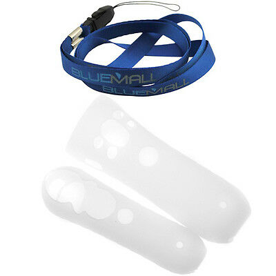 For Sony PS3 Move Motion and Navigation Controller Clear Silicone Soft Skin Case