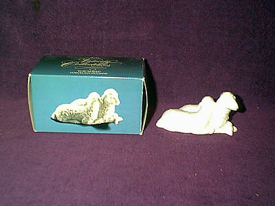 Vintage 1983 Avon Nativity White Bisque Porcelain The Sheep Figurine