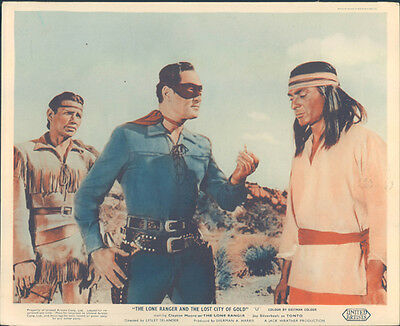 The Lone Ranger And Lost City Of Gold Clayton Moore Jay Silverheels Lobby Card
