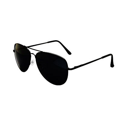 Black Aviator Sunglasses & Cloth Case Uv400 Designer Mens Ladies Shades