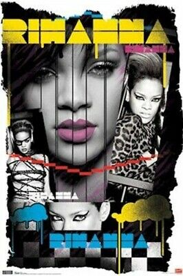 RIHANNA POSTER ~ COLLAGE 22x34 Music Pop
