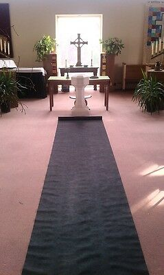 100ft Deluxe Black Fabric Wedding Aisle Runner