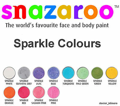 Snazaroo Sparkle Face Body Paint Fancy Dress 18ml Make-Up 12 Sparkle Colours