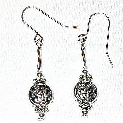 Celtic Patterned Drop Earrings