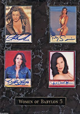 Woman of BABYLON 5 Framed Set of 4 Trading Cards AUTOGRAPHED