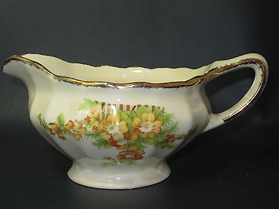 BRITISH EMPIRE Sovereign Potters - #679 Yellow Flowers - CREAMER - 47F