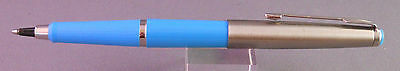 Parker Rollerball Pen-new refill installed--Systemark-light blue with chrome cap
