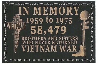 Vietnam War In Memory 58,479 Brothers And Sisters Never Returned Decal Sticker