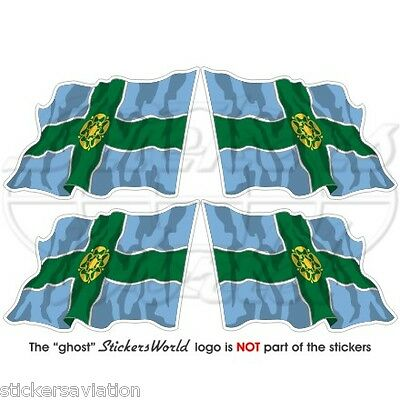 "DERBYSHIRE Flying Flag Derby England UK 50mm (2"") Vinyl Stickers, Decals x4"