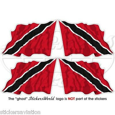 "TRINIDAD & TOBAGO Flying Flag Caribbean 50mm (2"") Vinyl Stickers, Decals x4"