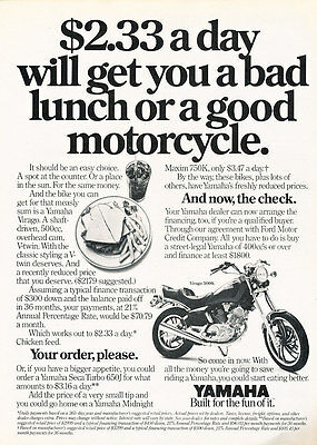 1980 Yamaha XS650 and XS400 Motorcycles Classic Vintage Advertisement Ad D23