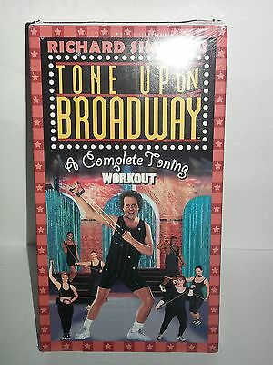 Richard Simmons TONE UP ON BROADWAY A Complete Toning Workout Vhs New Sealed