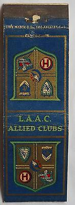 L.A.A.C. Allied Clubs Matchcover 111212