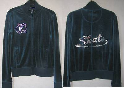New Ladies Ice Skating Velvet Dress Jacket with Crystal Motifs- Size 10 & 12