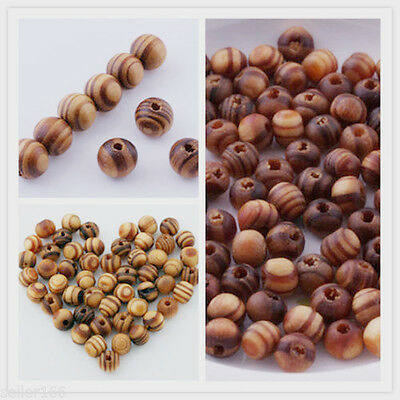 Wood Spacer Loose beads Bracelets charms Jewelry making Findings 6mm 8mm 10mm