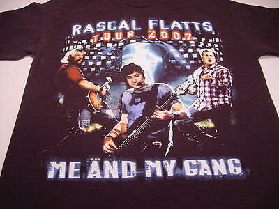 """Country Music RASCAL FLATS """"Me And My Gang"""" 2007 TOUR (S) T-shirt"""