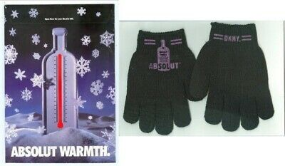 Absolut Warmth - DKNY Gloves in Original Package Scarce Item 1994