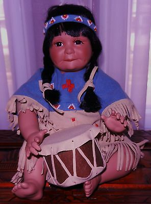 1993 DANBURY MINT INDIAN DOLL SONG OF SIOUX Perillo Native American NIB w/papers