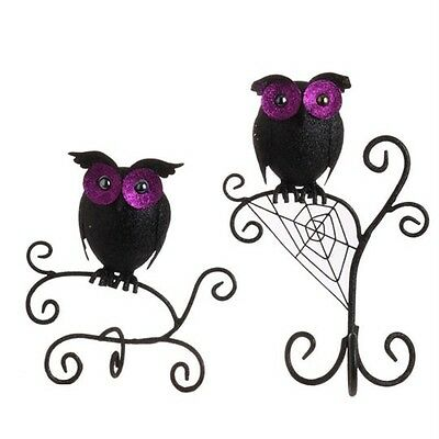 Owl on Web stand Halloween decoration by RAZ NEW H3109372 Free shipping