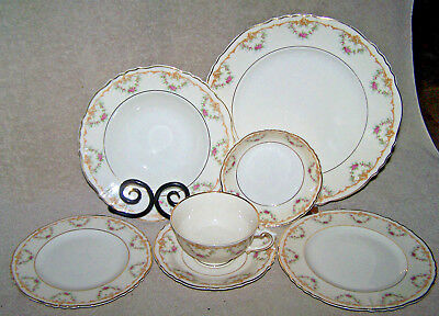 Vintage USA made Syracuse China Wardell 7 pc Place Settings up to 12 available