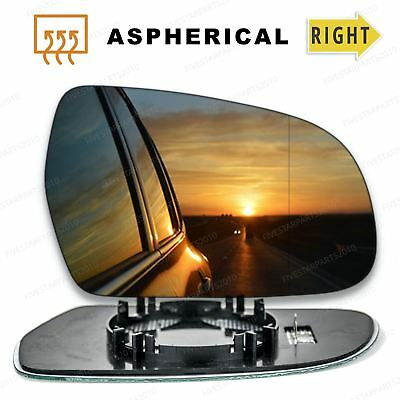 Right Driver side Wide Angle Wing mirror glass for Audi A3 2010-2012 Heated