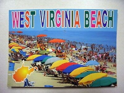 West Virginia Beach Postcard