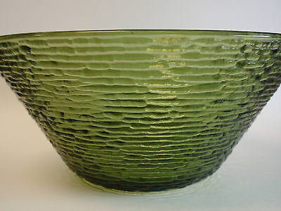 Vintage Anchor Hocking Avocado Green Soreno Large Salad Serving Bowl 4qt Retro