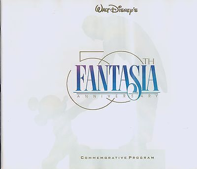 Fantasia WALT DISNEY 50th Anniversary Commemorative Program 1990 Book!