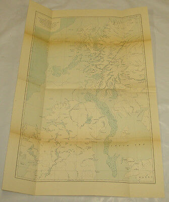 1877 Antique Map/PHYSIOGRAPHY OF WESTERN SCOTLAND & BASIN OF IRISH SEA