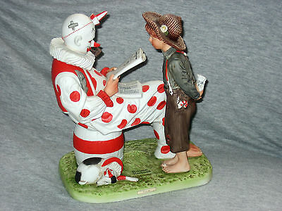 Norman Rockwell Circus Large Limited Edition Porcelain Figurine Very Rare New!