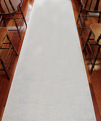 Plain White Aisle Runner Non-Woven Fabric Wedding Ceremony Decoration