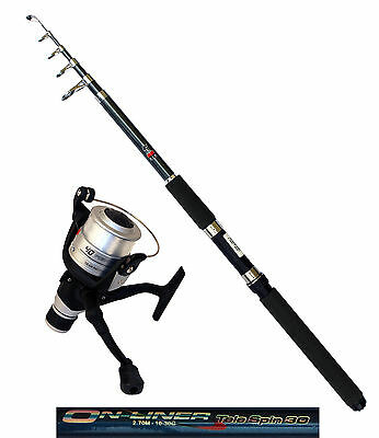 DAM Angelset Rute Onliner Telespin 30 2,70m Angelrolle Quick Fighter 140RD